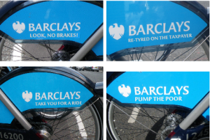 guerilla sticker barclays cycle hire