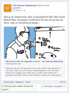 Post voor YA! Internet Marketing op Facebook